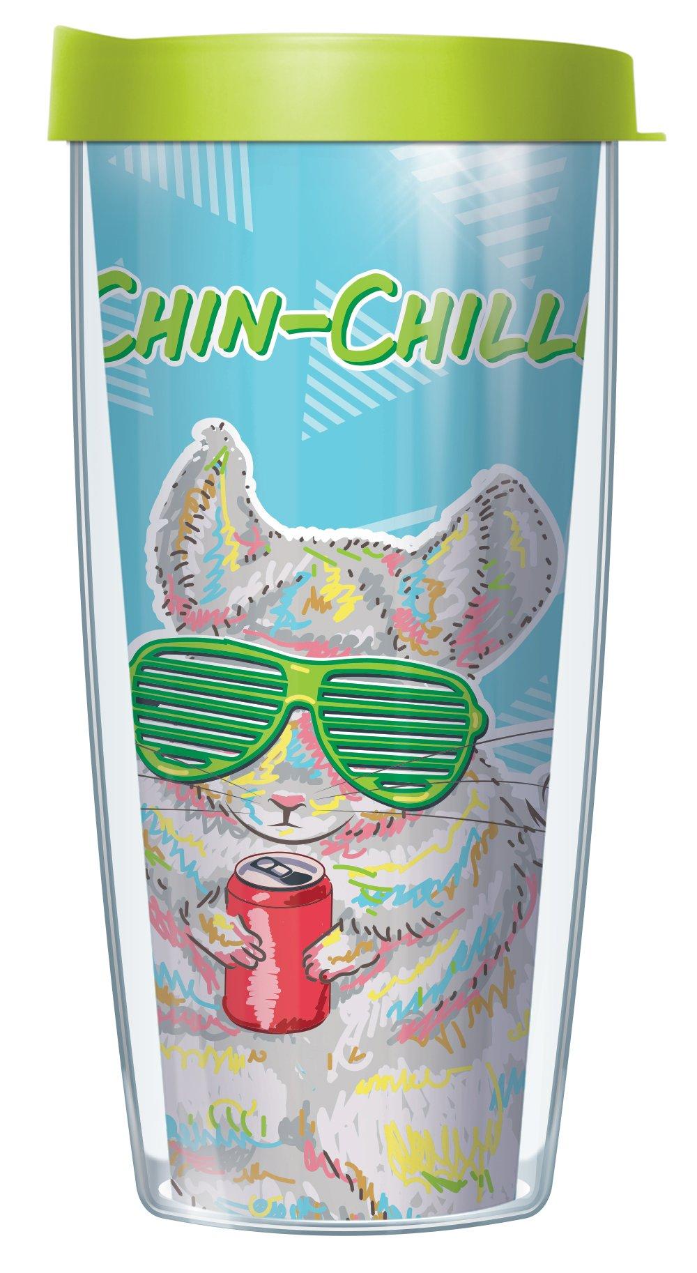Chin-Chillin 16oz Mug Tumbler Cup with Lime Lid