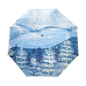 Paraguas de viaje compacto para sol y lluvia, resistente al viento, protección UV,