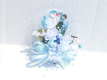 Baby Shower Corsage For Mother Boy (Light Blue) Stork Theme (8330 LTBL