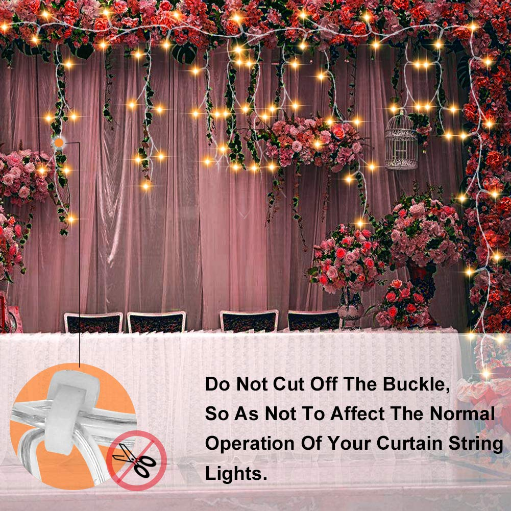 Curtain String Light,[9.84 ft×9.84 ft] 305 Led Window Icicle Fairy Light with 8 Modes Setting,Suitable for Bedroom and Pat Garden Outdoor Indoor Wall Decoration for Party, Wedding, Xmas by Cameker (Image #7)