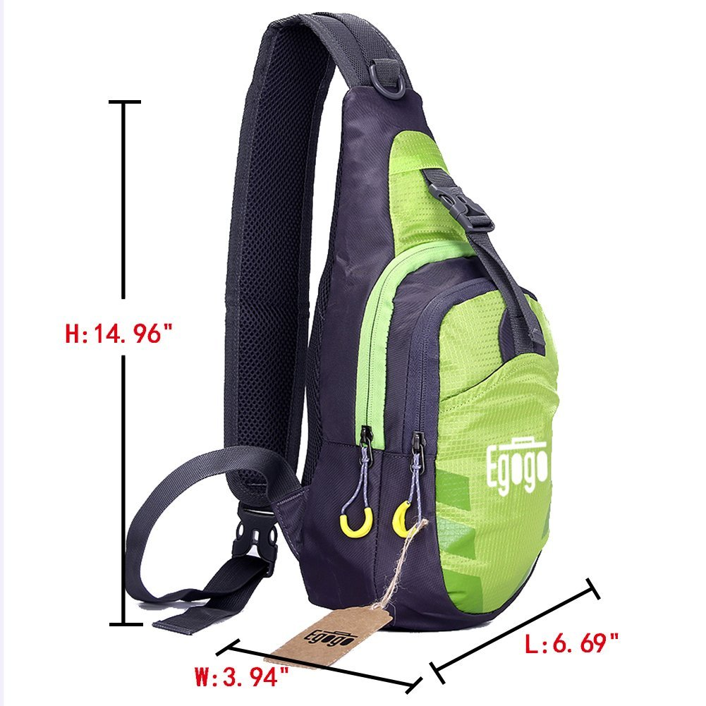 EGOGO Multi-Functional 3 Layers Hiking Cycling Bag Sling Pack with  Adjustable Shoulder Strap Cross Body ... e89c223974aa7