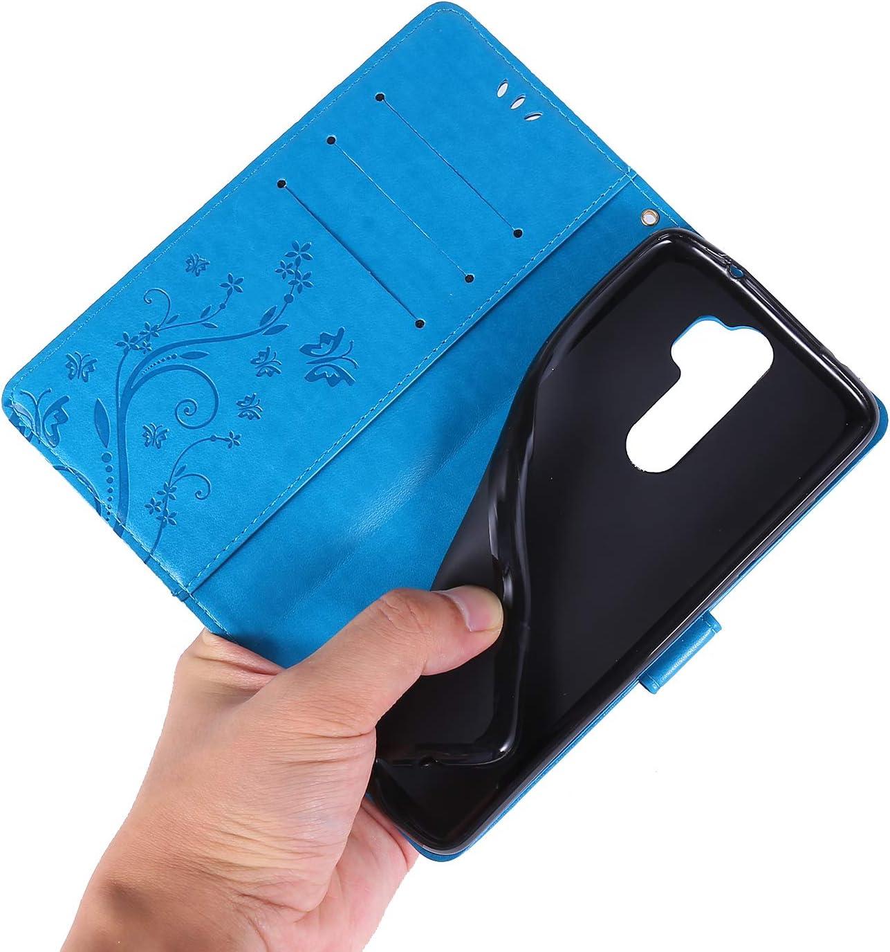 Azul E-Lush Funda Relieve Dibujo Carcasa de Tipo Libro Caso Magn/ético Tarjetero y Suporte Case Cover para Xiaomi Redmi Note 8 Pro Funda para Xiaomi Redmi Note 8 Pro Carcasa Cuero PU Premium
