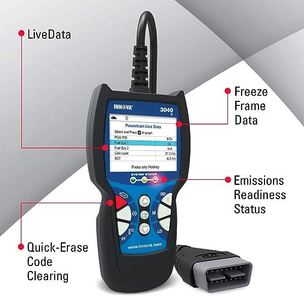 Innova 3040e OBD2 Live Data Scanner
