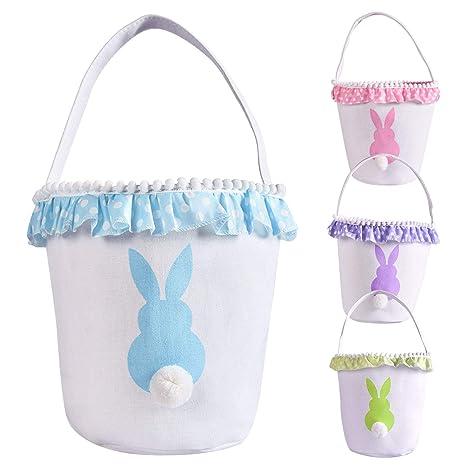 Amazon.com: Bolsas de algodón para cesta de Pascua para ...