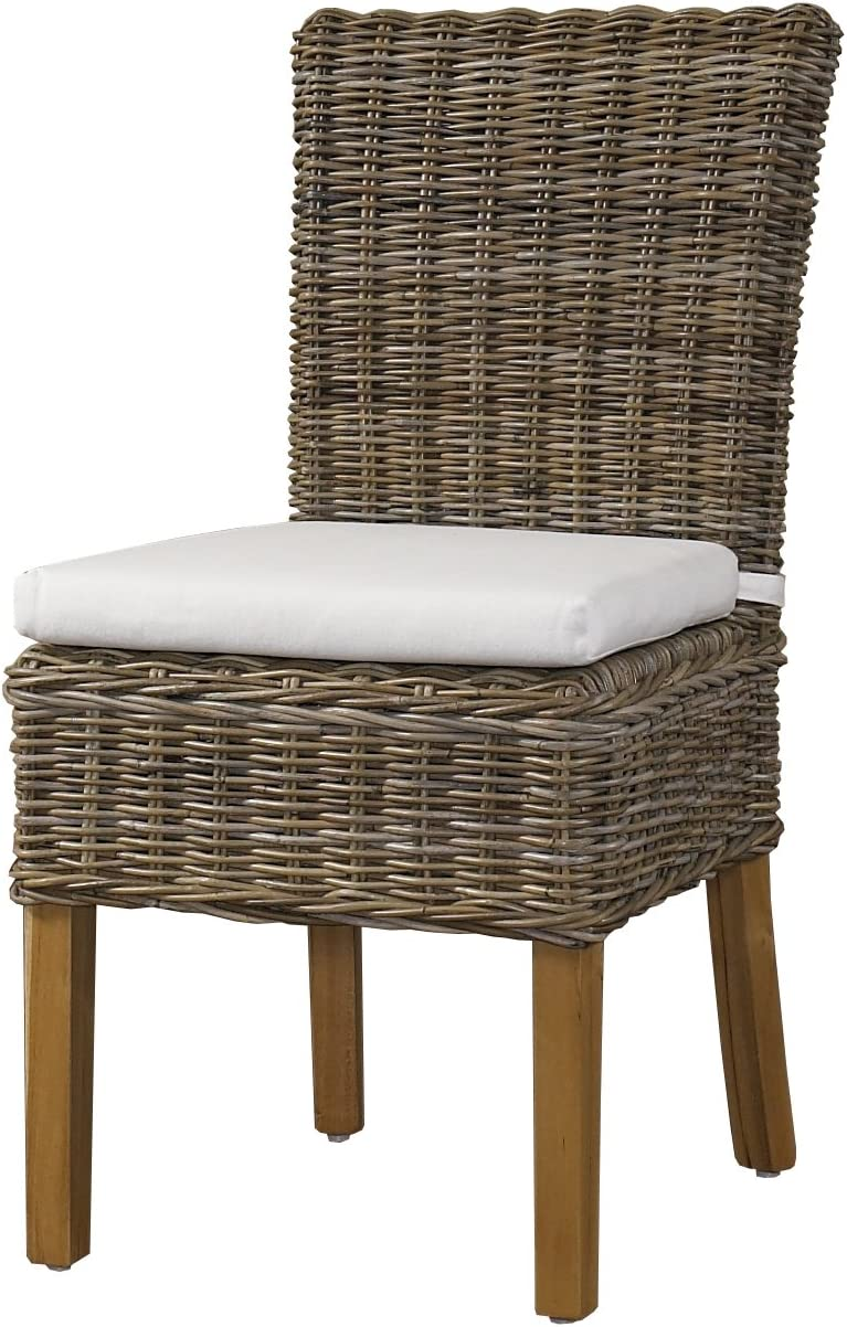 Padma s Plantataion Boca Chair, Kubu with White Cushion