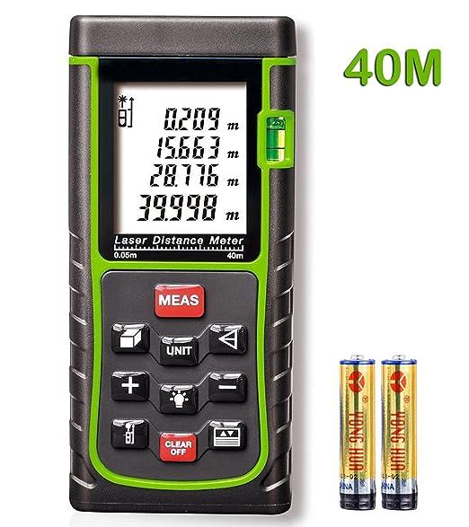 15 opinioni per KingTop Telemetro Laser Misuratore di Distanza Con LCD- Telemetro Laser Con