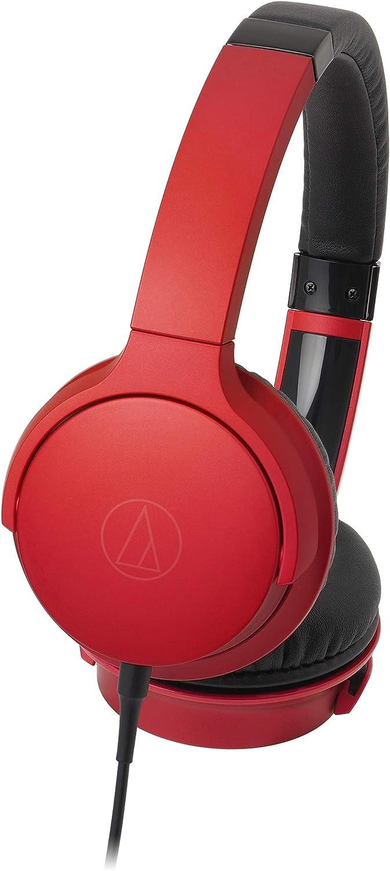 audio-technica ポータブルヘッドホン レッド ATH-AR3 RD