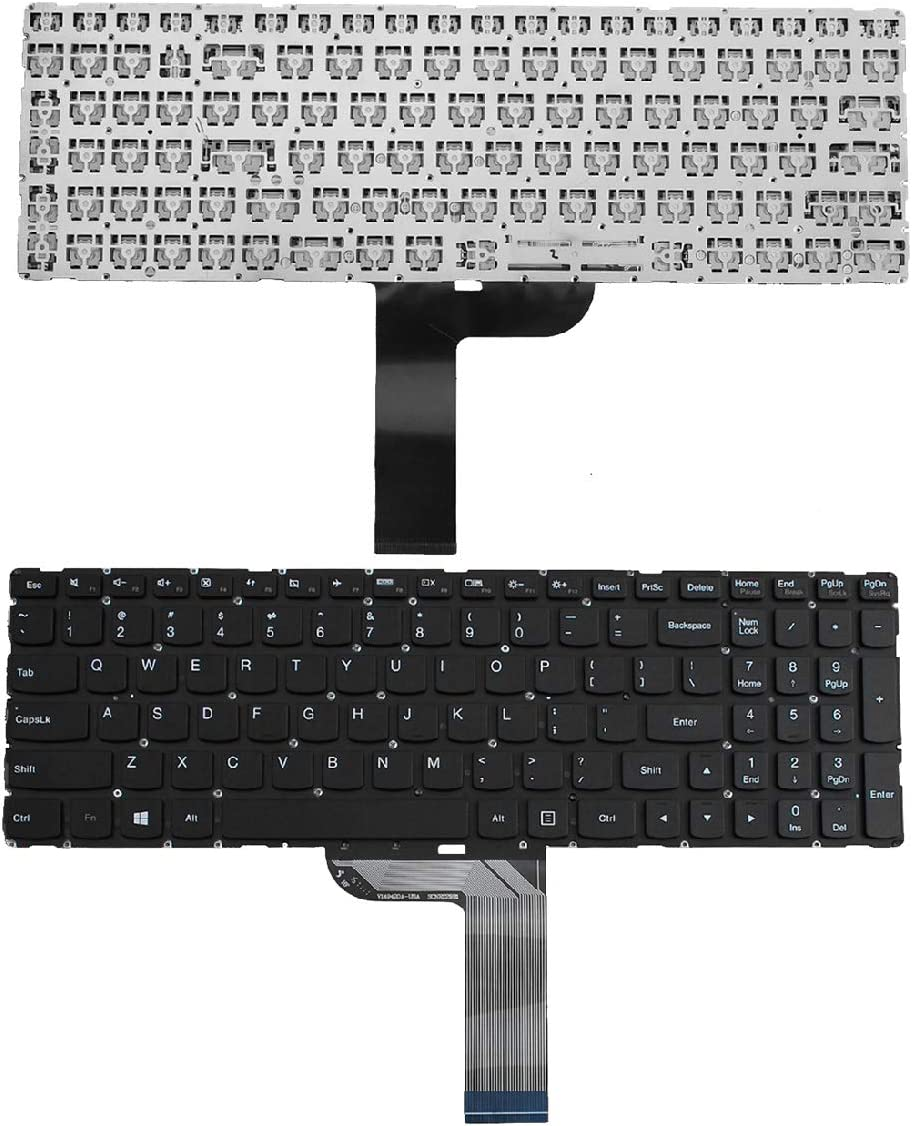 Laptop Keyboard Replacement US Layout for Lenovo Flex 3-15 3-1570 3-1580 Edge 2-15 2-1580 Black (Without Frame,Without Foil, Without Backlit, Win8)