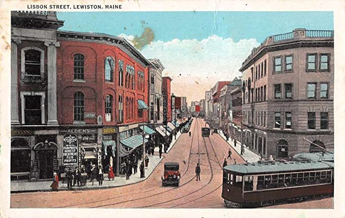 Lewiston Maine Lisbon Street Trolley Coke Sign Antique ...