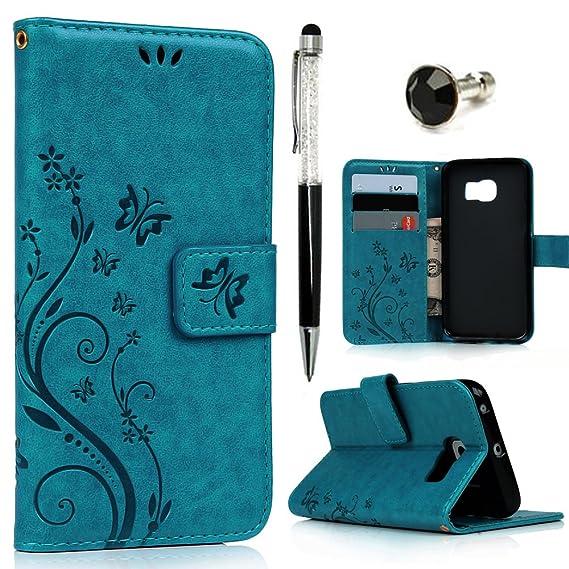 amazon com galaxy s6 edge case mavis\u0027s diary premium wallet pu