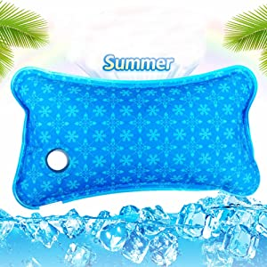 NERLMIAY Cooling Mat,Cool Pillow Ice Pillow,Water Filling,Ice Pillow Chair Pad,Water Seat Cushion for Baby,Children,Student,Office,Car,Travel