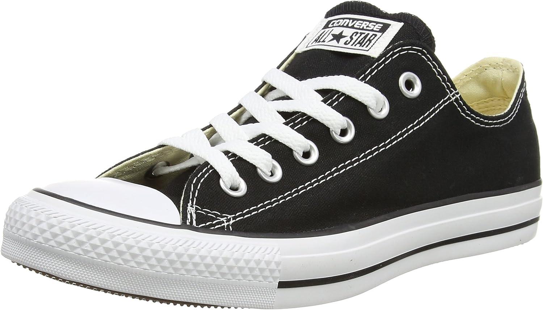 Converse Unisex Chuck Taylor All Star Low Top Black Sneakers - 6 Men = 8 Women