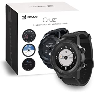 3Plus Cruz Hybrid Smart Watch with Heart Rate Monitor, Pedometer, Physical Hands, Touch
