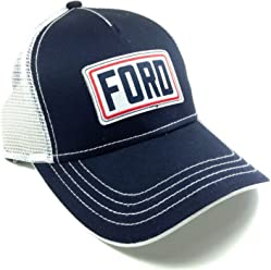 1f5c4040eed H3 Headwear. Navy Blue   White Ford Mesh Trucker Adjustable Snapback Hat