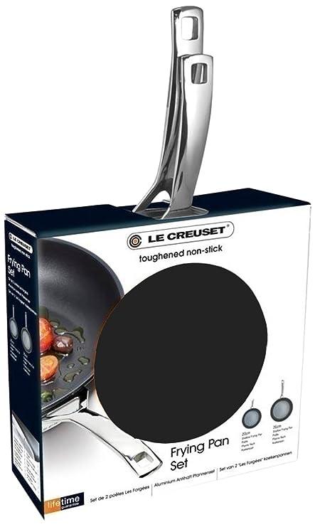 Le Creuset - Juego de sartenes (20 y 26 cm, antiadherente, 2 unidades