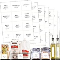 Talented Kitchen 157 Minimalist Supplementary Pantry & Fridge Labels – Pantry Label Sticker Ingredients. Water Resistant…