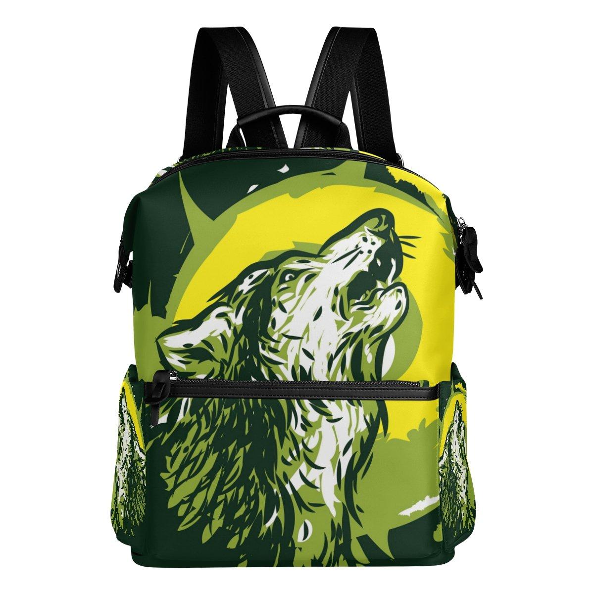 COOSUN Lobo del grito mochila Escuela Mochila mochila grito de viaje Multi 820fd8