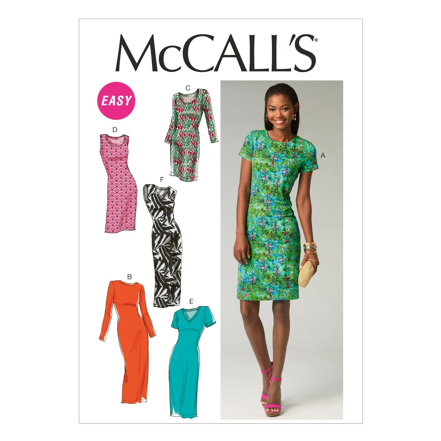 McCall Pattern Company M6886 Misses' Dresses Sewing Template, Size A5 (6-8-10-12-14) M6886A50