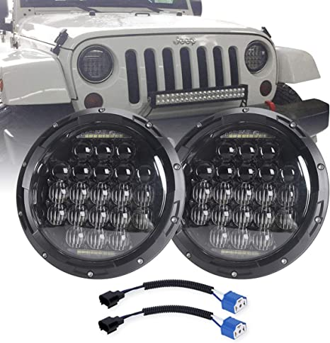 COWONE 7 Inch Round 5D 2019 Newest Design 130w LED Projector Headlight on jeep wrangler alternator wiring diagram, jeep wrangler headlight fuse, jeep headlight switch wiring diagram, jeep wrangler headlight switch,