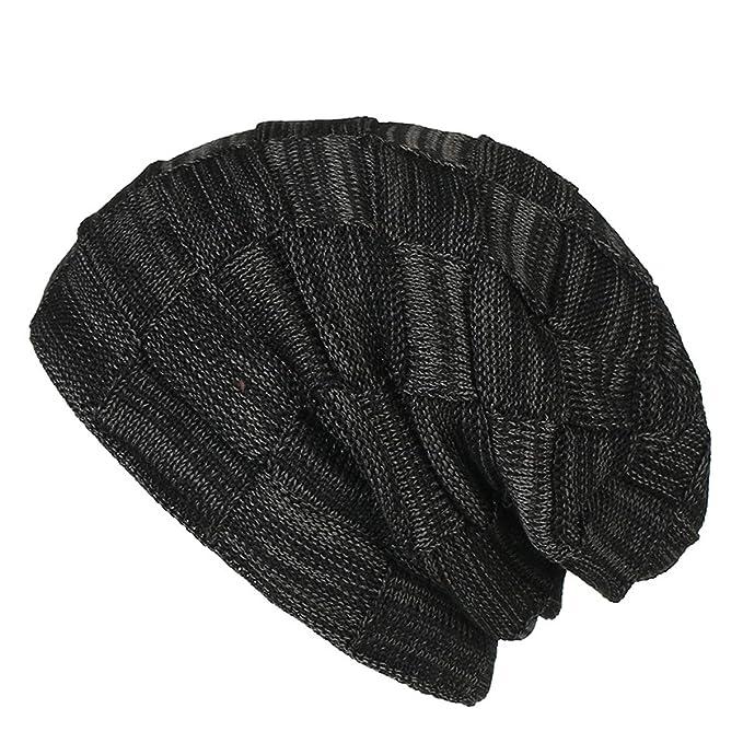 Mattelsen Gorro Invierno Mujer Slouch Beanie Calentar Sombreros Gorras de Aabrigo Diseño Clásico Moderno (Negro): Amazon.es: Ropa y accesorios