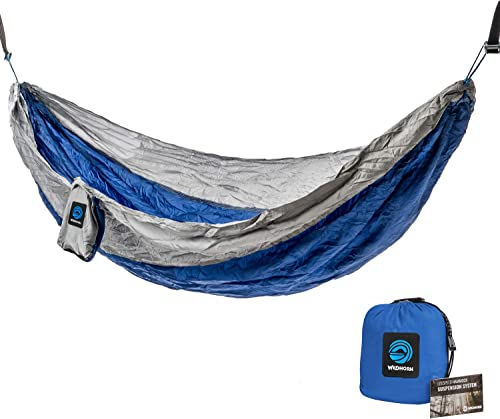 Adventure Hawaii Double Hammock- Nylon Parachute Hammock with Tropical Aloha Print for Camping, Hiking, Beach, Travel. Extra Large, Light Weight, Tree Straps Included. Reign Skye.