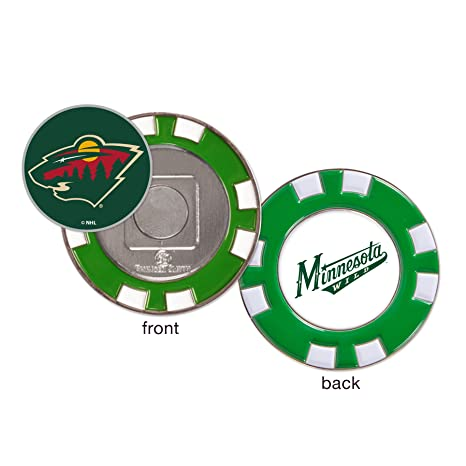 dd5ea961beb Image Unavailable. Image not available for. Color  Minnesota Wild Poker  Chip Golf Ball Marker