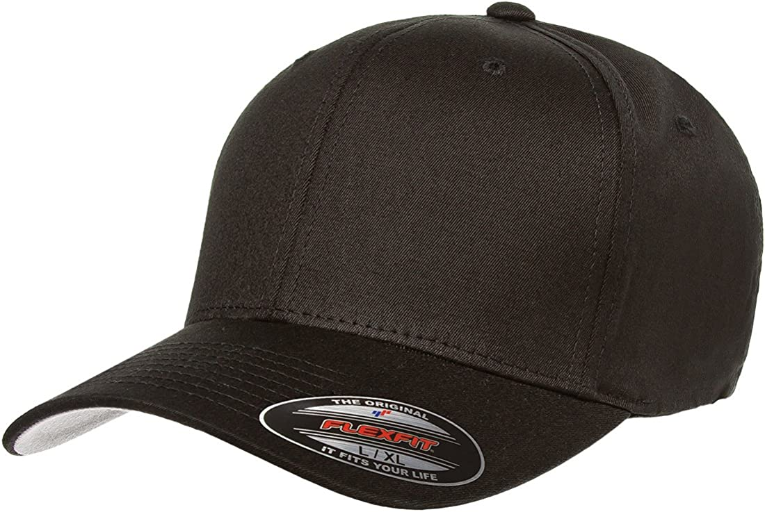 Stretch Fit Blank V-Flexfit Cotton Twill Fitted Baseball Hat Athletic Ballcap w//Hat Liner