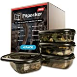 Fitpacker PRO Premium Meal Prep Containers - Unbreakable Food Storage - Microwaveable, Freezer Safe (33oz - 4pack)