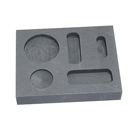 Pure grafito Ingot molde crisol Bar moneda Combo 1/4 oz 1/2 oz