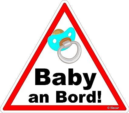 Adhesivo Bebé a bordo/Baby On Board/niño/Chupete/Schnulli 16 x 14 ...