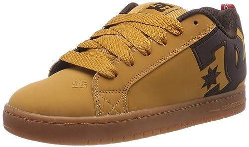 118fbf9cc2370 Amazon.com: DC Shoes Mens Court Graffik Se Leather Wheat Turkish ...