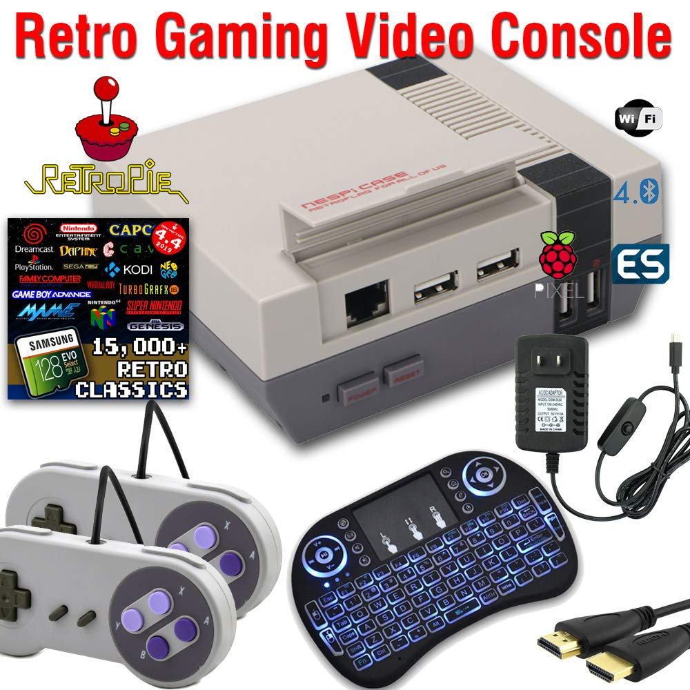 128GB Retropie Raspberry Pi 3 Model B+ Retro Games Video Console Complete Build Fully Loaded