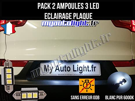 Lote de bombillas LED para placa de matrícula