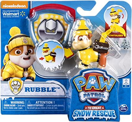Paw Patrol Snow Rescue Skye with Transforming Pup Pack and Badge Spin Master