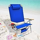 Amazon Com Deluxe 4 Position Aluminum Beach Chair W