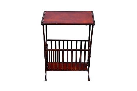 Tavolino Portariviste Legno.Ideacasa Tavolino Liberty Portariviste In Legno E Ferro Con