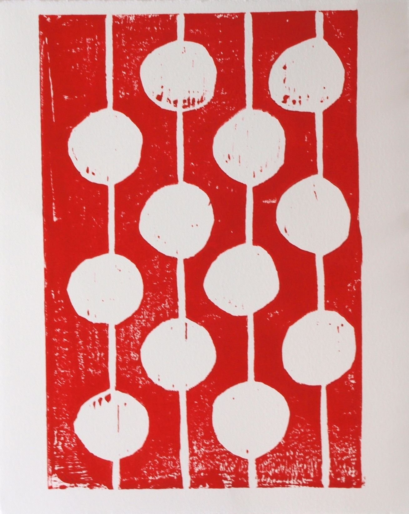 Red and White Bulbs by