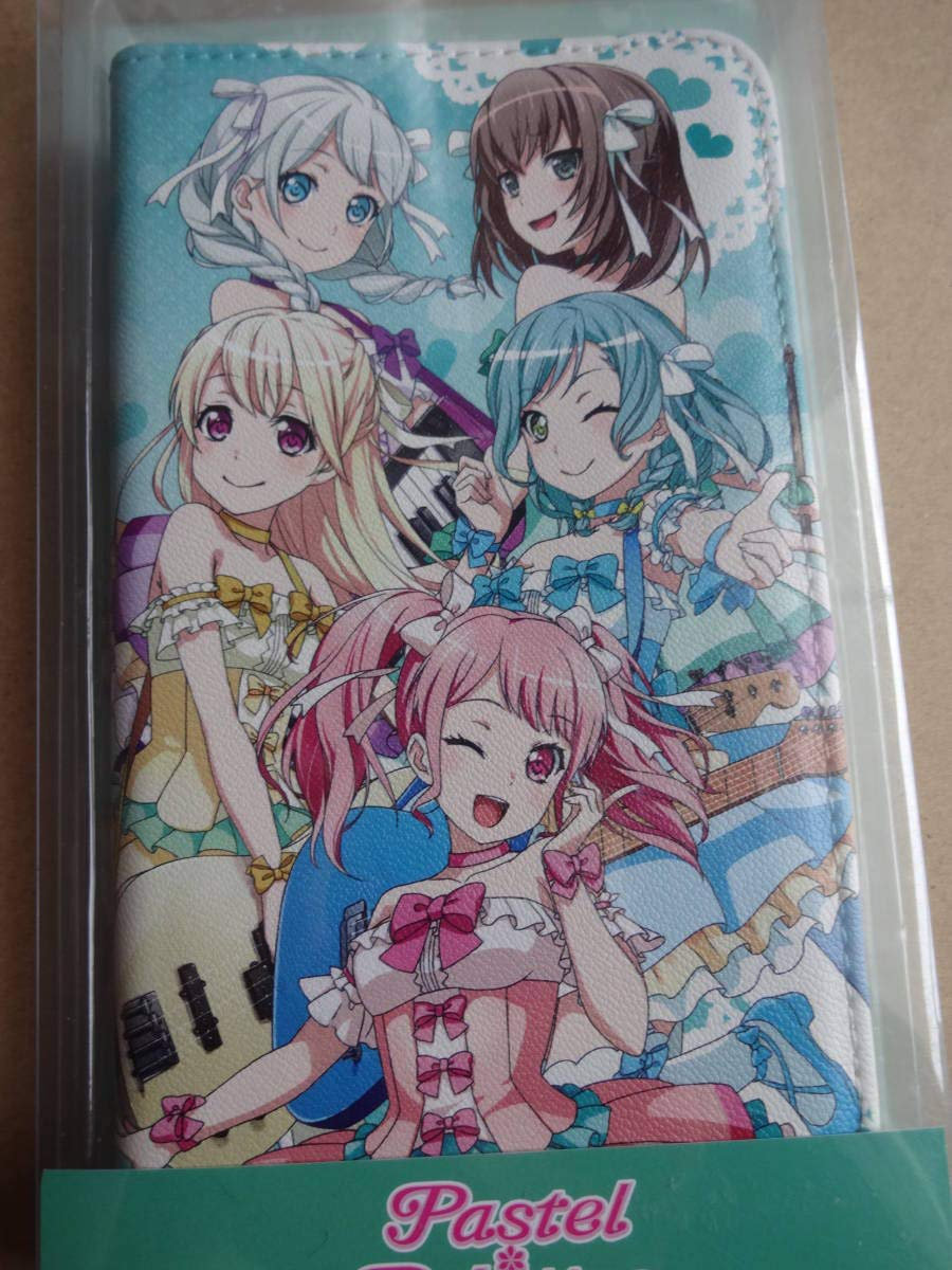 BanG Dream 手帳型スマートフォンケース Pastel*Pallettes パステルパレット アイフォンケース スマホケース   B07H2WC3ZP