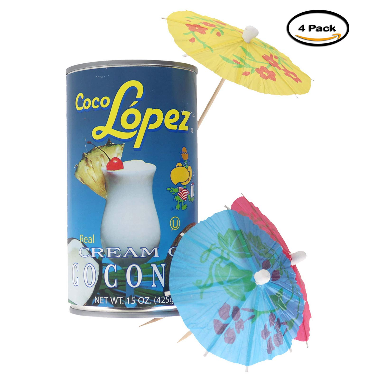 Coco Lopez - Real Cream of Coconut - 15 Ounce Can - Original Fresh Authentic Coconut Cream (Pack Of 4) by Coco Lopez (Image #3)