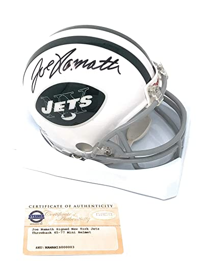 5823df0b9 Joe Namath New York Jets Signed Autograph Mini Helmet Steiner Sports  Certified