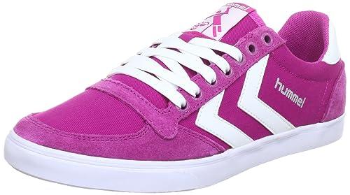 hummel HUMMEL SLIMMER STADIL LOW 63-112-4007 - Zapatillas de deporte de lona unisex, color rosa, talla 36: Amazon.es: Zapatos y complementos