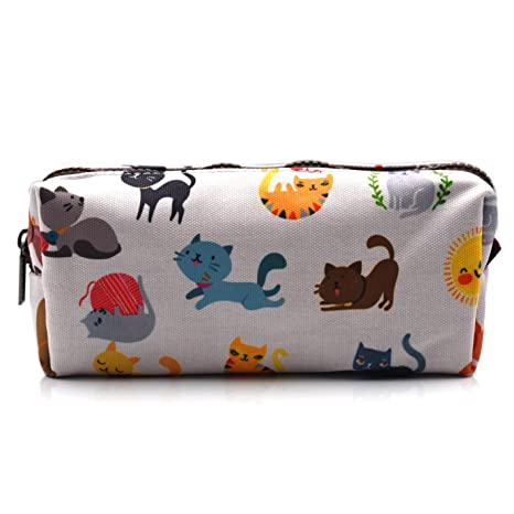 Amazon.com: Cute Gato estuche niños bolsa de vuelta a la ...
