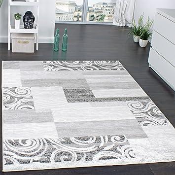 Lieblich Paco Home Designer Teppich Wohnzimmer Teppich Kurzflor Muster In Grau Creme  Preishammer, Grösse:120x170