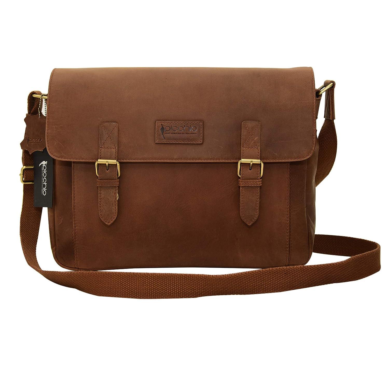 New Men/'s Vintage Brown Leather Satchel Full Flap Messenger Laptop  Shoulder Bag