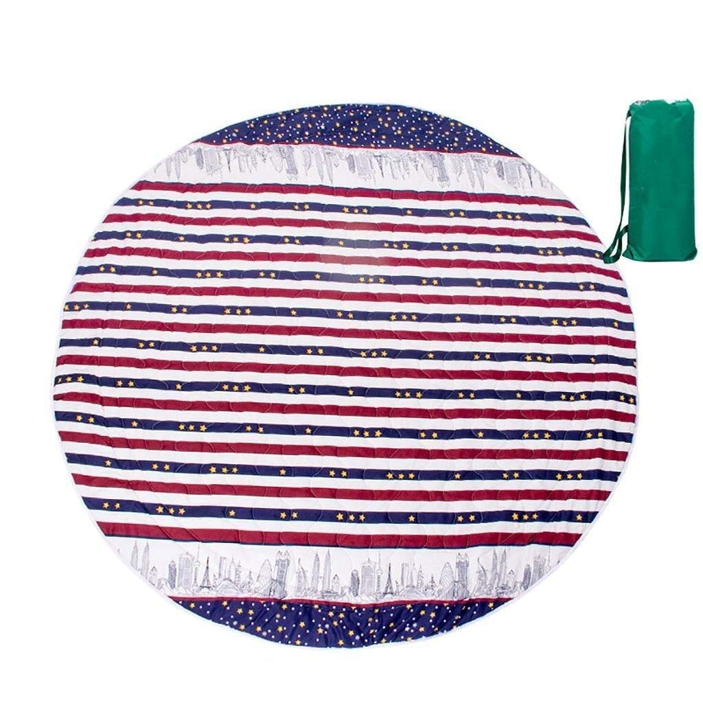 ZKKWLL Picnic Blanket Children's Picnic Blanket Round Oxford Cloth Picnic mat Travel Waterproof Outdoor Camping Tent Carpet Children Crawling mat Beach mat (Color : C) by ZKKWLL