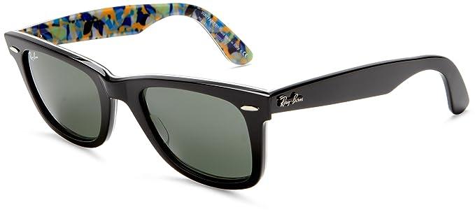 RAY BAN Gafas de sol RB 2140 1018 Negro Azul 33MM: Amazon.es ...