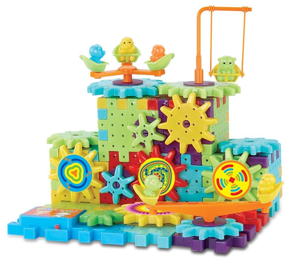 Interlocking Gears Building Blocks Construction Set Motorized Spinning Wheels With Multiple Variations - 81 pc 3D Learning Toy Review