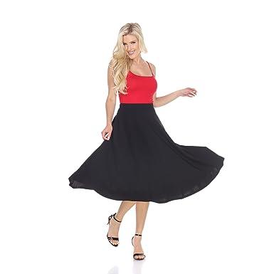 430b93c37f6 WM Women s Flared Midi Skirt with pockets at Amazon Women s Clothing ...