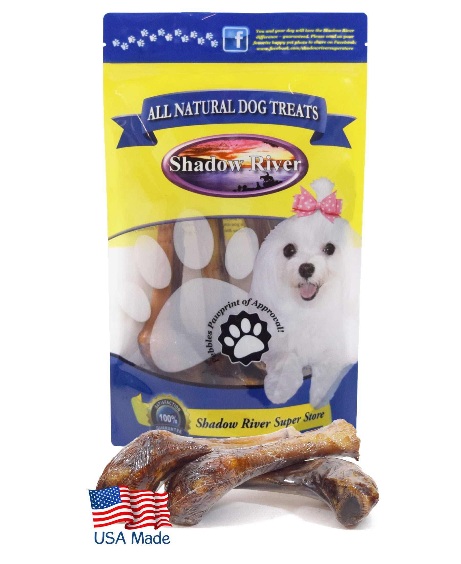 Shadow River Lamb Shank Bones for Dogs - 10 Pack Regular Size Premium All Natural Chew Treats