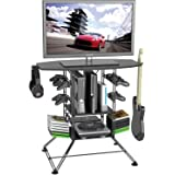 """Atlantic Centipede Game Storage TV-Stand - 37"""" TV Stand, Durable Wire Construction with Game Storage, Organize your Games, Controllers, 4 Game Consoles and More ON 45506147 in Black"""